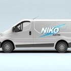 Niko Electric Logo Design, Tee Shirts and Vehicle Graphics